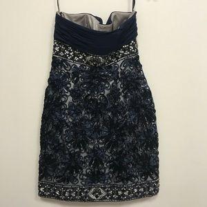 Sue Wong Dresses - Sue Wong Nocturne Midnight Blue Jeweled Dress Sz8